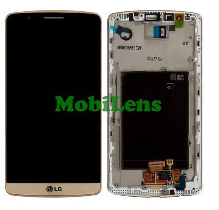 LG D855, LG G3 Titanium Дисплей+тачскрин(модуль) золотистый в рамке, фото 2