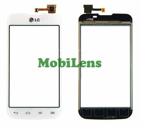 LG E455, Optimus L5 Dual Тачскрин (сенсор) черный, фото 2