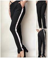 Летние женские брюки (штаны) Султанки А15 черные с полоской