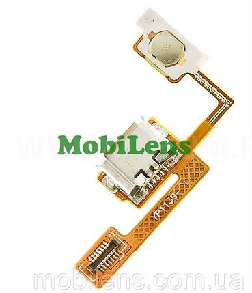 LG E730, Optimus Sol Шлейф с разъемом зарядки и кнопки включения, фото 2