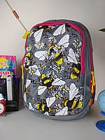 Рюкзак школьный для девочек спинка ортопедическая на 2 отделения размер 40х20х19