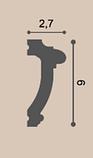 Молдинг для стен, гладкий, Orac Decor Axxen, PX113 лепной декор из дюрополимера, фото 2