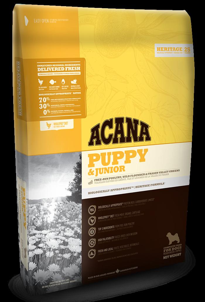 Сухой корм Acana PUPPY & JUNIOR 0.34 кг - корм для щенков средних пород (цыпленок/рыба)