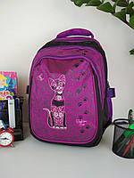 Рюкзак школьный Кошка для девочек спинка ортопедическая на 3 отделения размер 38х30х23