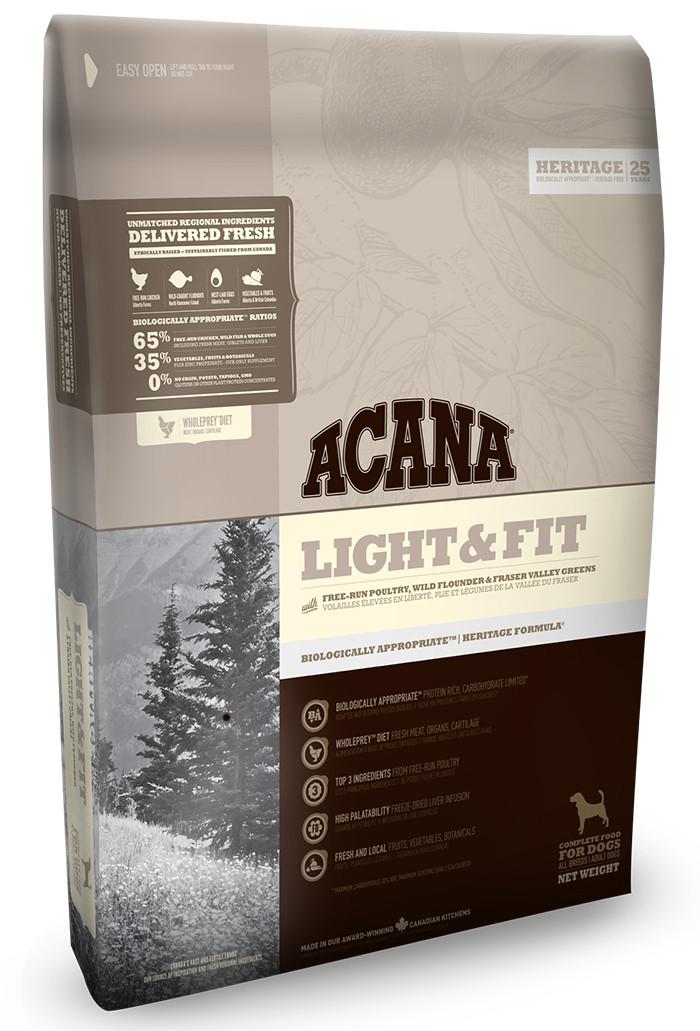 Сухой корм Acana LIGHT & FIT 2 кг - корм для собак с избыточным весом