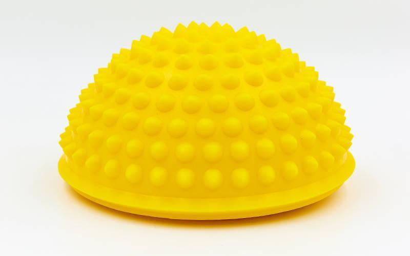 Полусфера массажная балансировочная Balance Kit жесткая желтая FI-7058