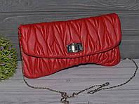 Красный Женский Клатч, фото 1