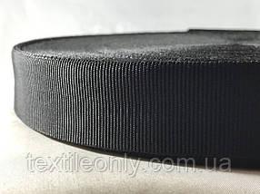 Тасьма сумочная щільна колір чорний 30 мм