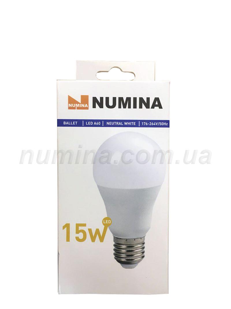 Світлодіодна лампа груша LAMP картон WHITE A60 15W E27 4000K