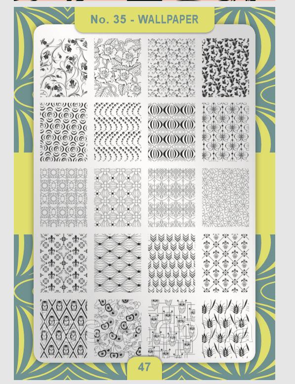 Пластина для стемпинга Moya №35 Wallpaper/Шпалери