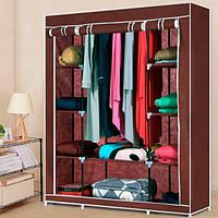 Портативный Тканевый Шкаф Органайзер Storage Wardrobe на 3 секции (синий)