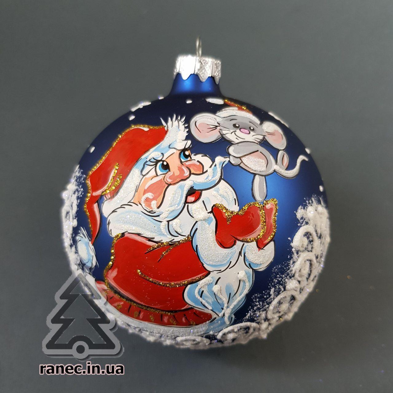 "Стеклянный шар на елку ""Символ года"" 100423"