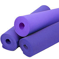 Коврик каремат для йоги фитнеса и спорта 60х180 см 150735