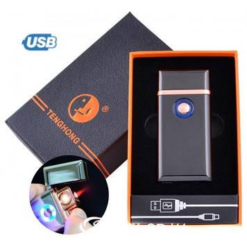 Электроимпульсная зажигалка USB+ ГАЗ (2/1)  LIGHTER, TH- 705