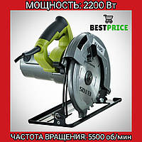 Электропила ручная дисковая циркулярная Eltos - ПД-185- 2200 вт