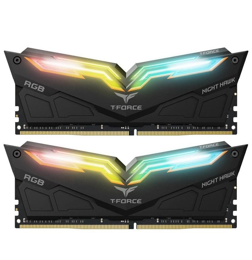 Модуль памяти DDR4 2x16GB/3200 Team T-Force Night Hawk RGB Black (TF1D432G3200HC16CDC01)