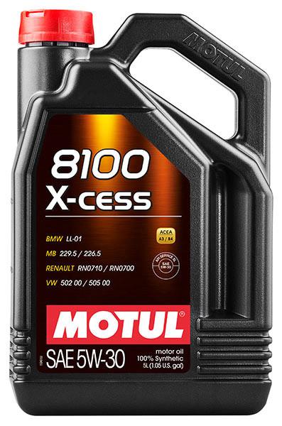 Масло моторное 100% синтетическое д/авто MOTUL X-CESS 5W30 (5L)