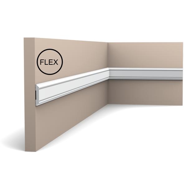 Молдинг для стін, гладкий, Orac Decor Axxen, PX144F ліпний декор з дюрополімер
