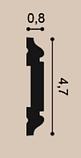 Молдинг для стін, гладкий, Orac Decor Axxen, PX144F ліпний декор з дюрополімер, фото 2
