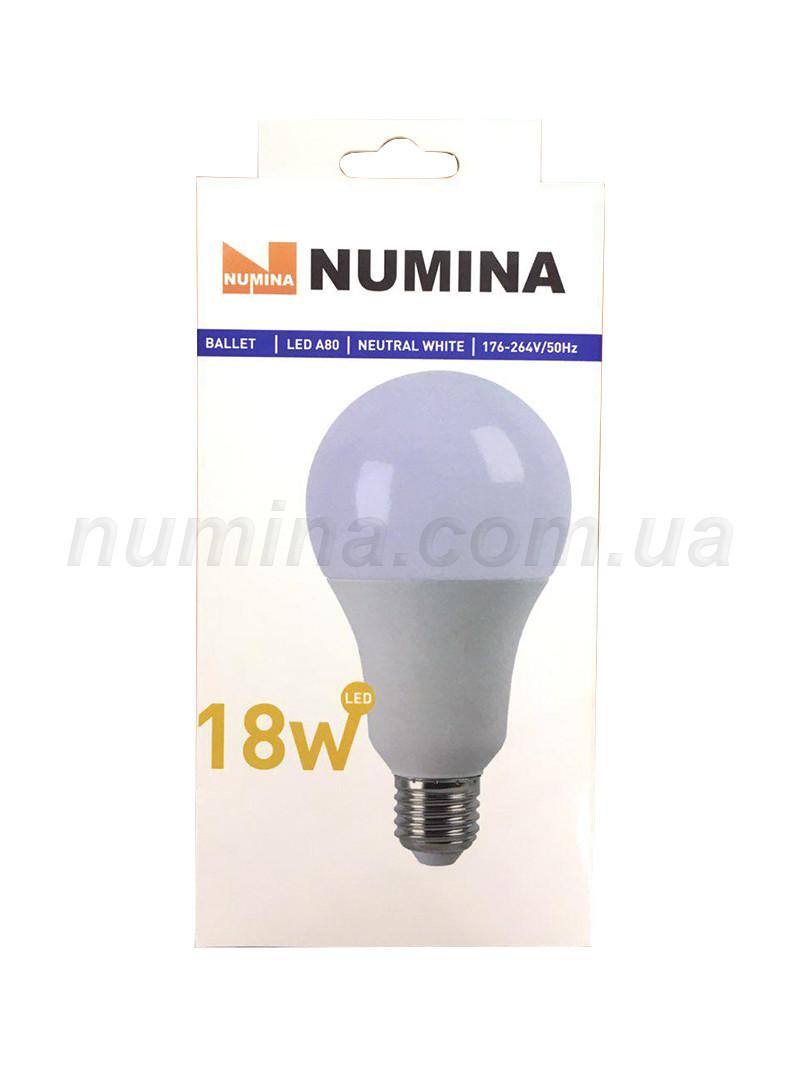 Светодиодная лампа груша LAMP картон WHITE A60 18W E27 4000K