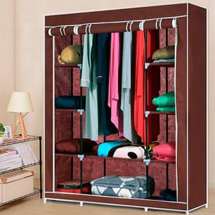 Складной тканевый шкаф для одежды Storage Wardrobe 88130 на 3 секции, фото 2