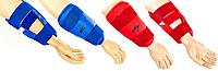 Защита для теквондо рук и ног (предплечье голень) WTF Красный, M