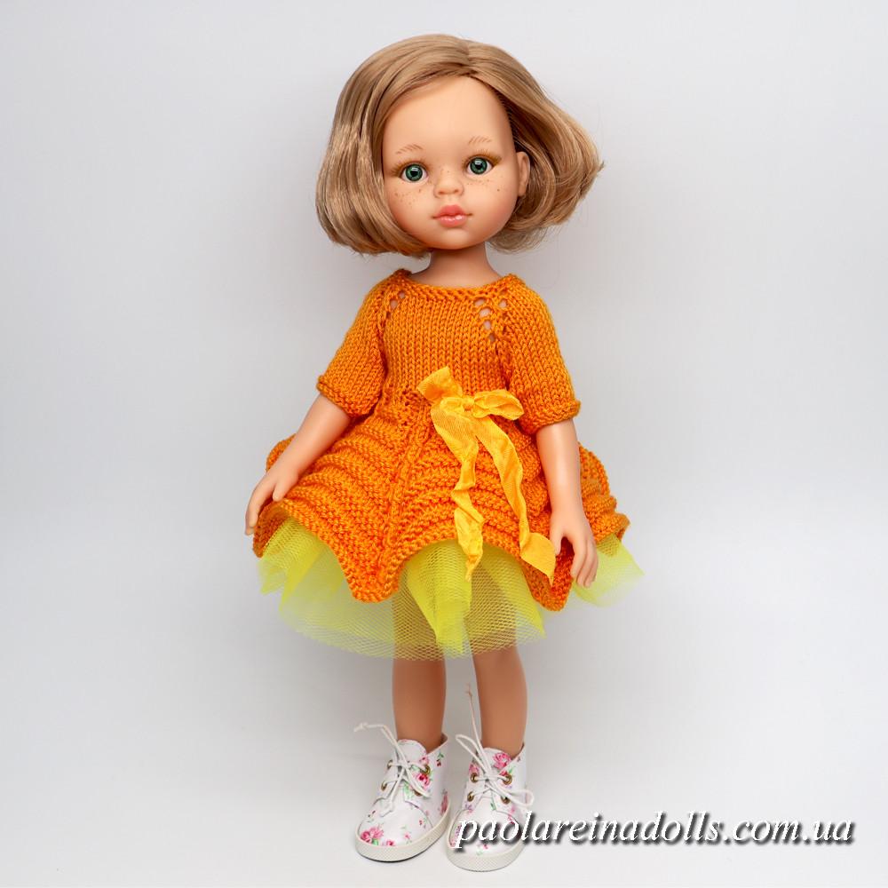 """Нарядное платье """"Апельсинка"""" для кукол Паола Рейна"""