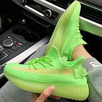 Женские кроссовки в стиле Adidas Yeezy Boost 350 v2 Glow Green