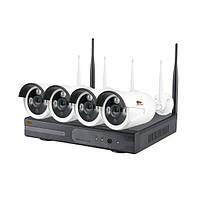 Комплект відеоспостереження Partizan Outdoor Wi-Fi Kit IP-32 4xCAM+1xNVR (82075)
