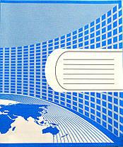 Тетрадь школьная двухцветная 18 листов линия Полиграфист