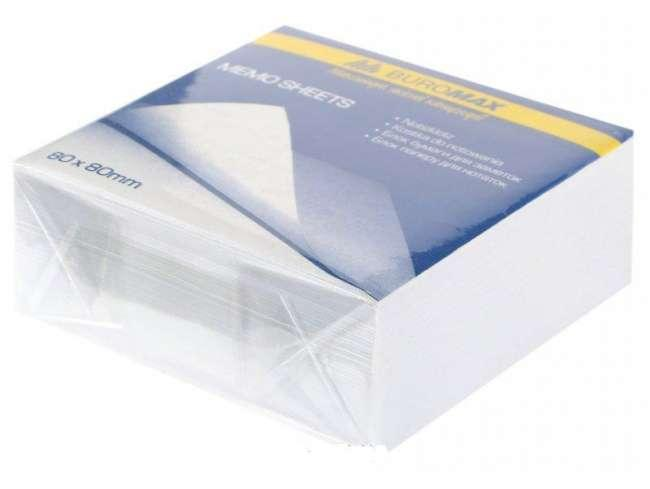 Блок бумаги для заметок 80х80х30 мм, белый, не склеенный