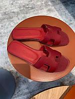 Кожаные женские шлепанцы Hermès , фото 1