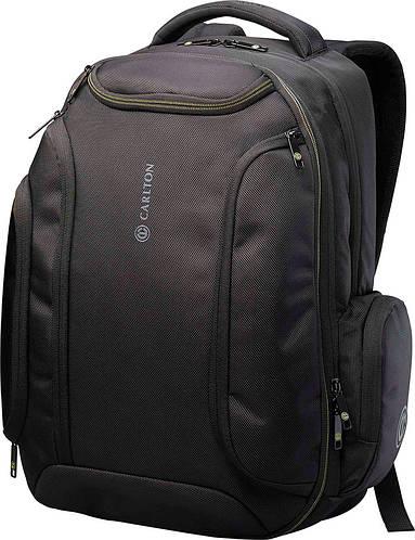 """Надежный прочный рюкзак с отделением для ноутбука до 17"""" и планшета CARLTON Hampton 913J120;01 черный"""