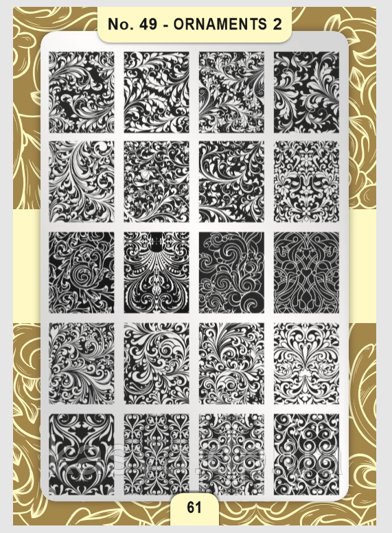 Пластина для стемпинга Moyra №49 Ornaments 2/Орнаменты 2