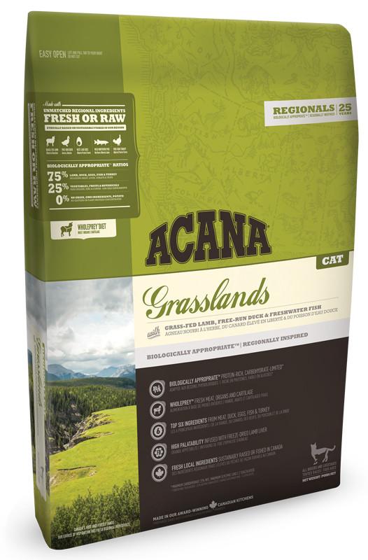 Сухой корм Acana GRASSLANDS CAT 340 r - корм для котят и кошек всех пород (ягненок/утка)