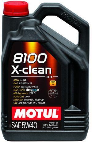 Масло моторное 100% синтетическое д/авто MOTUL  X-CLEAN SAE 5W40 (4L)