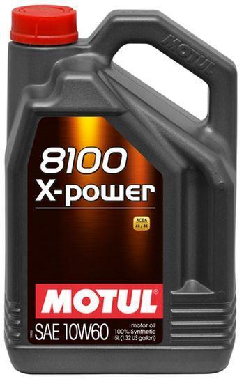 Масло моторное 100% синтетическое д/авто MOTUL  X-POWER SAE 10W60 (5L)