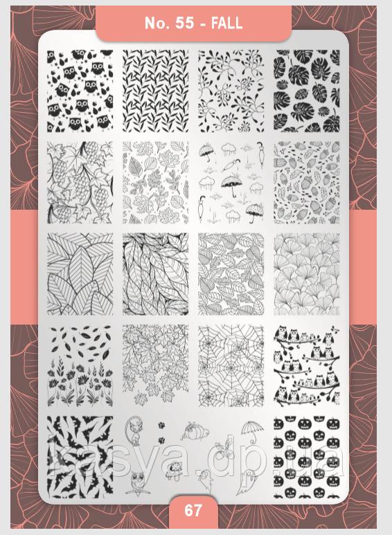 Пластина для стемпинга Moyra №55 Fall/Осінь