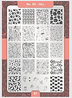 Пластина для стемпинга Moyra №55 Fall/Осень