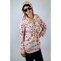 """Туника из штапеля """"Розы"""" женская (46 размер) - пляжная одежда для детей, туники, панамы, рубашки"""