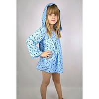 """Туника """"Звёздочки"""" голубая (140 - 152) - пляжная одежда для детей, туники, панамы, рубашки"""