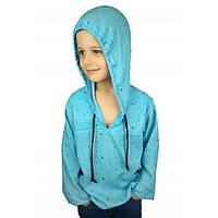 """Рубашка """"Якоря"""" голубая  (104-116) - пляжная одежда для детей, туники, панамы, рубашки"""