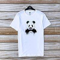 Мужская Белая Футболка Panda Joker Классическая 100% Хлопок Летние Футболки Мужские Белые Панда Джокер