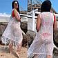 """Летняя стильная нарядная туника до больших размеров 2931 """"Паутинка"""" в расцветках, фото 2"""
