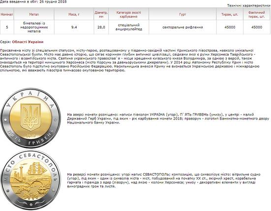 Місто Севастополь монета 5 гривень, фото 2