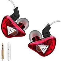 Дротові навушники QKZ CK5 Mic однодрайверные динамічні з гарнітурою Original Червоний, фото 1