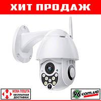 Акция! Уличная беспроводная поворотная наружная IP камера FULLHD 1080P WIFI, датчик движения, звук, сирена