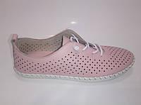Женские кожаные мокасины на шнурках, фото 1