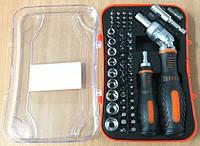 Набор инструментов АХ-8228 отвертка-трещетка 61 предмет, фото 1