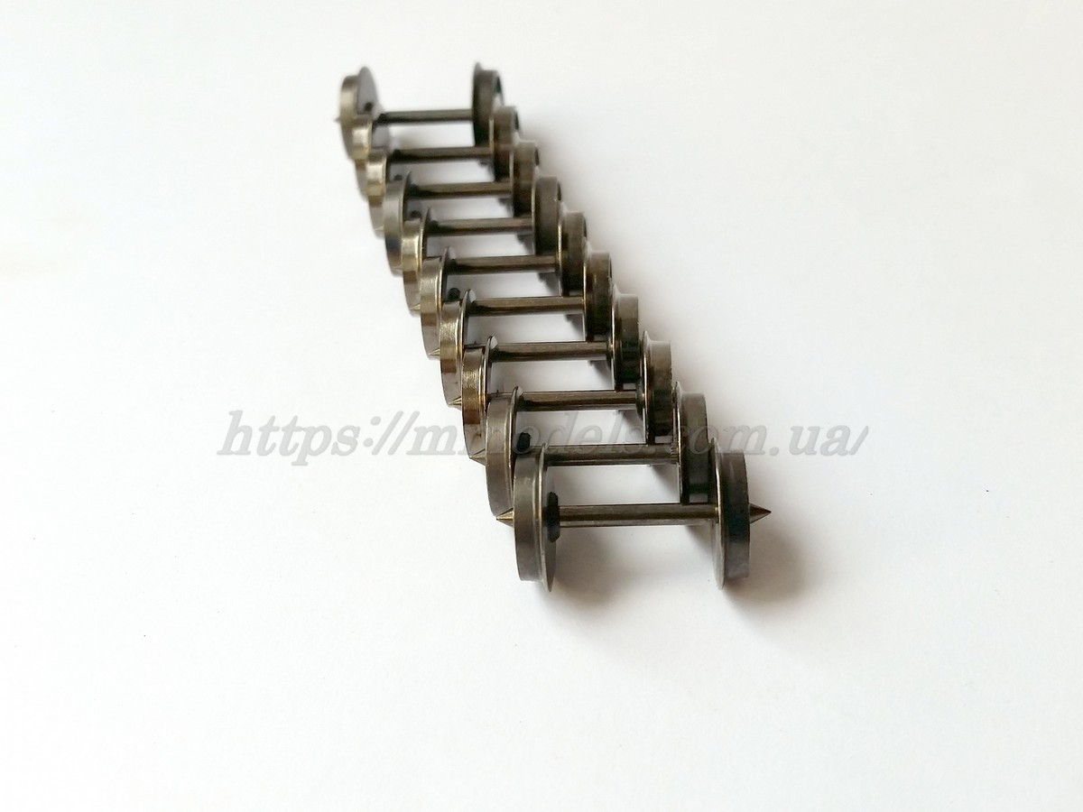 Piko 56050 Колесная пара изолированых осей, для вагона размер 11.3 х 24.3мм - комплект 10 шт,масштаба 1:87,H0